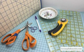 Sewing tools to prepare fabric