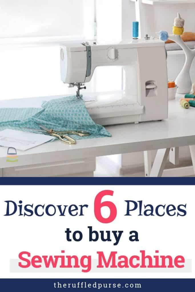 places to buy a sewing machine pinterest image