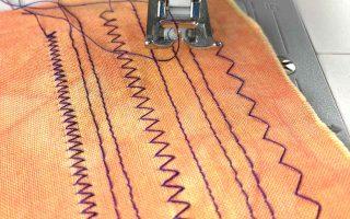 sampler of straight and zig-zag stitches