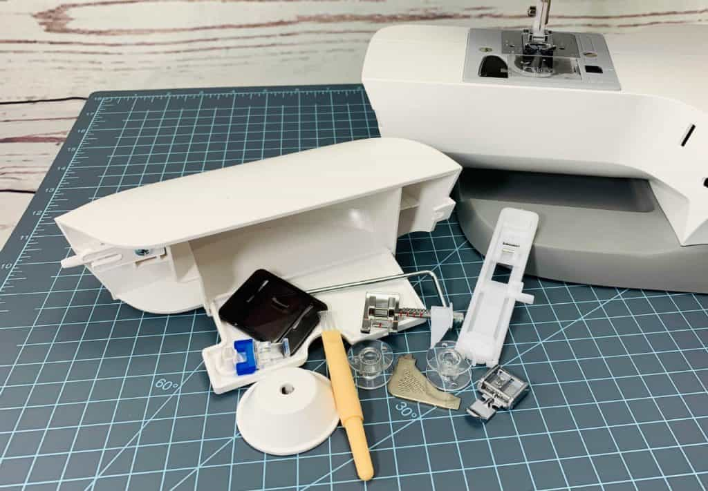 sewing machine accessory box