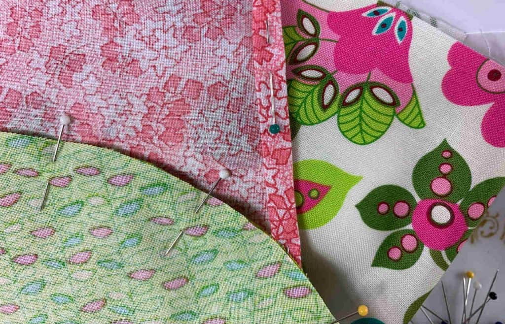 fabric with pins