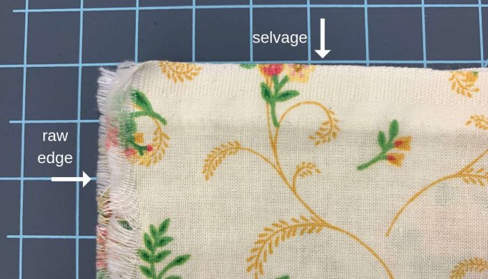 selvage and raw edge