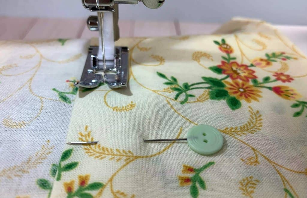 sew down the hem