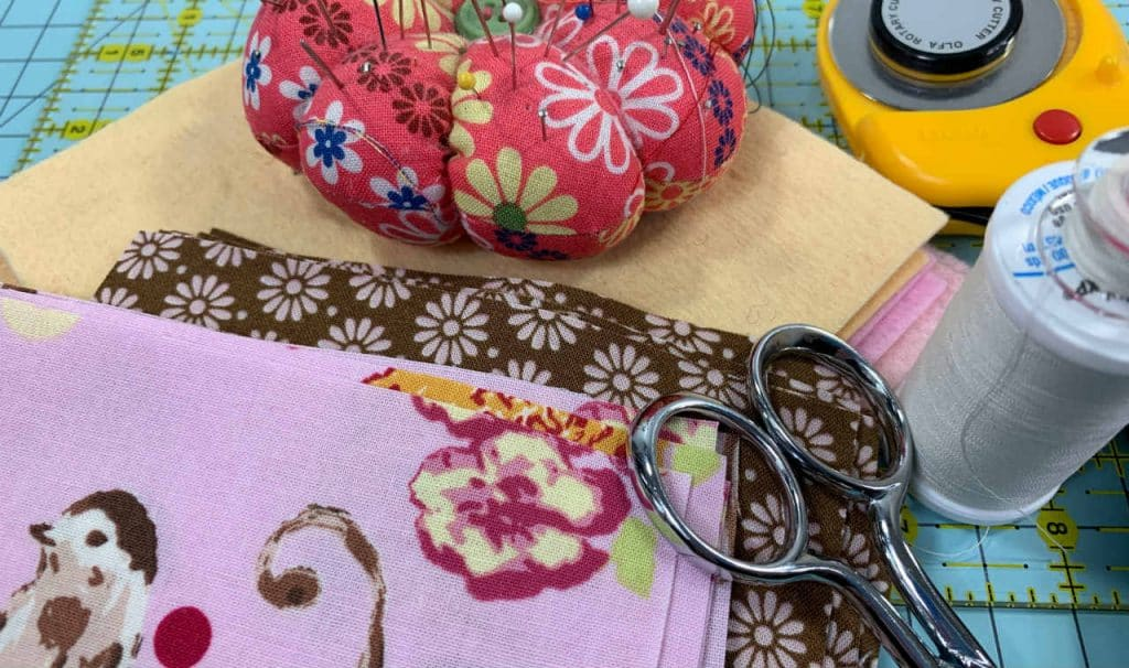 supplies for fabric coasters
