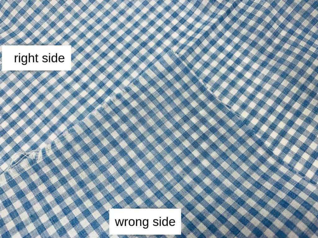 woven blue gingham