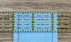 an accurate quarter inch seam allowance stitched around corners