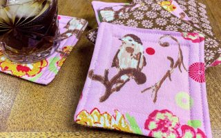 fabric drink coasters
