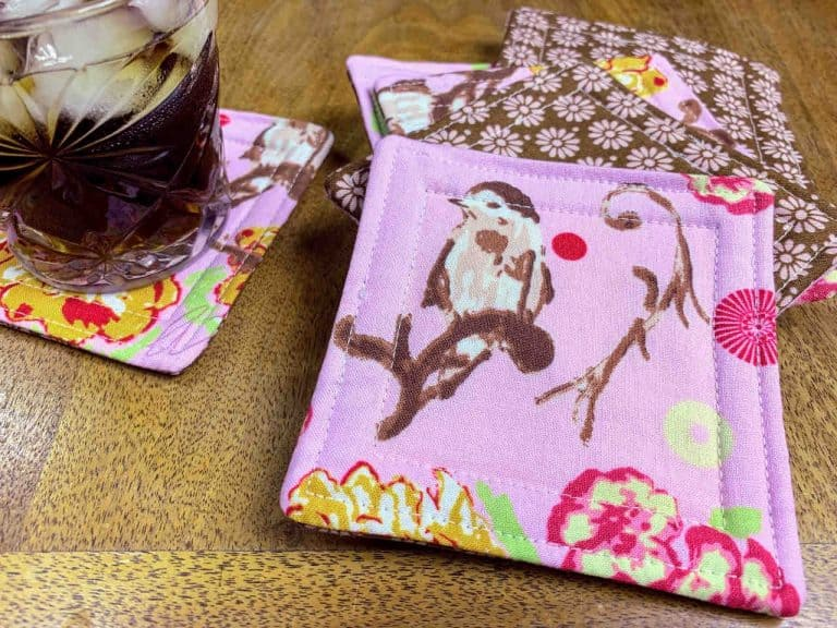 How to Sew Fabric Drink Coasters