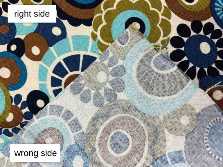 Right Side vs. Wrong Side of Fabric