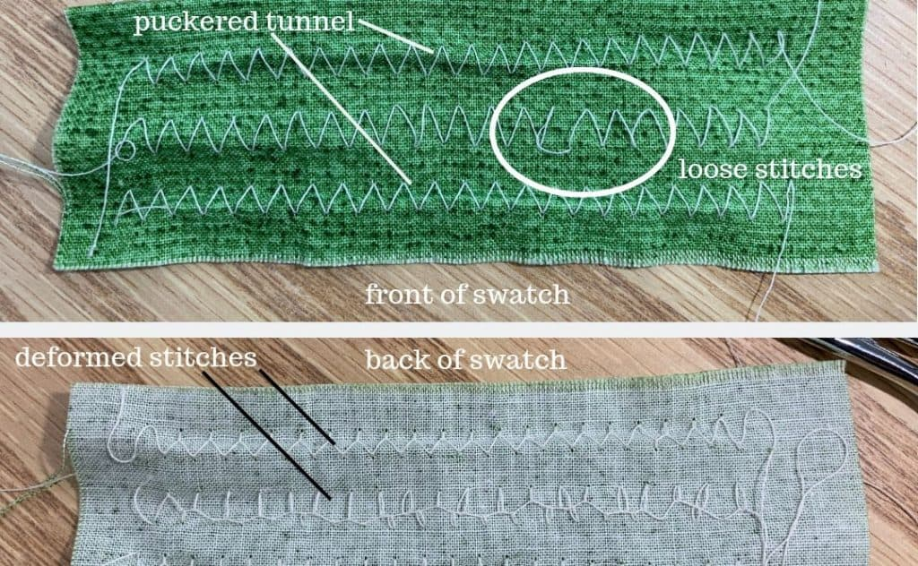 three problems with the zig-zag stitch
