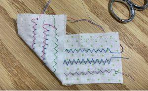 zig-zag stitch problems