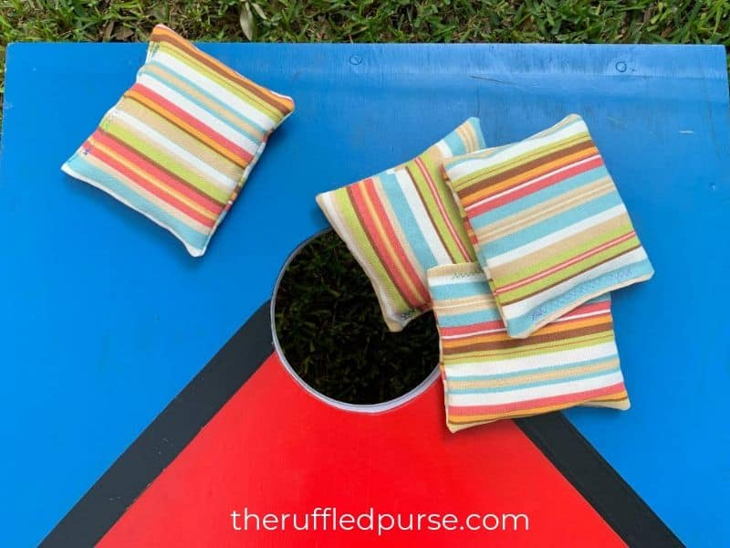 Bean bags are a great project for a beginner sewist.