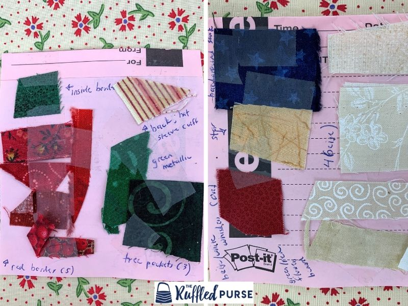 Fabrics for the card catcher