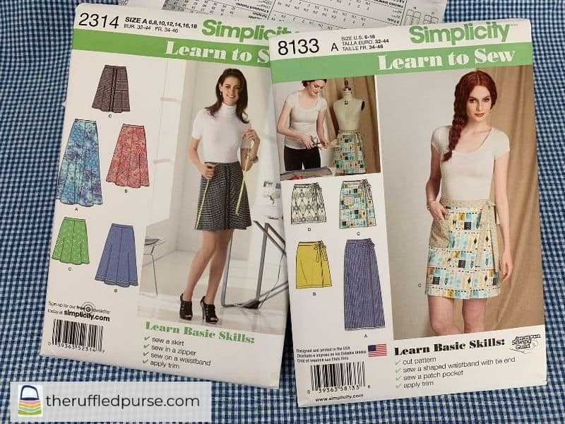 Simplicity patterns Learn to Sew basic skills
