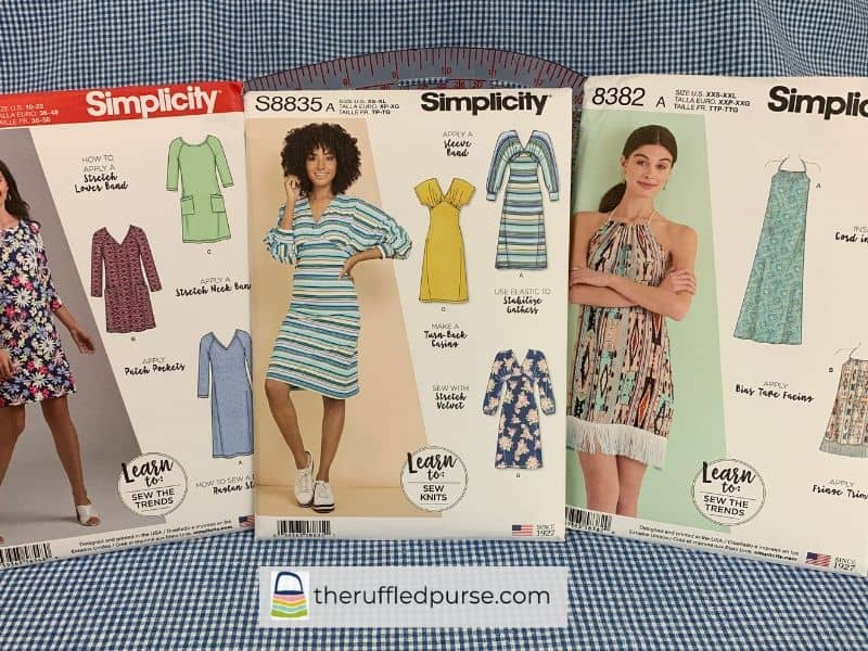 Simplicity patterns Learn to Sew knits and trends