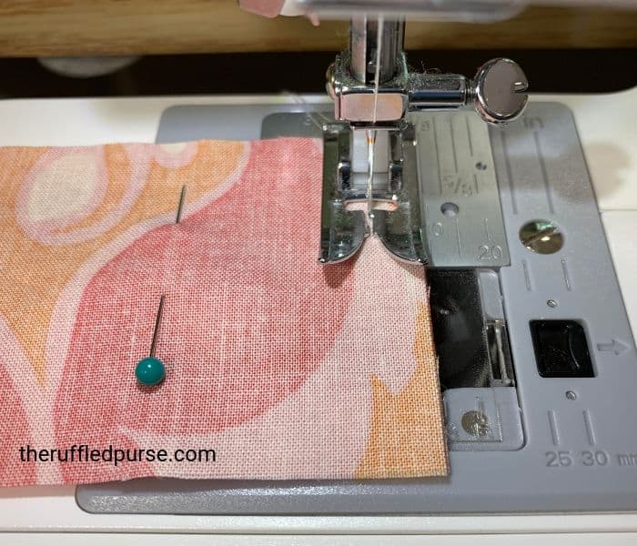 Sew strips on the short end