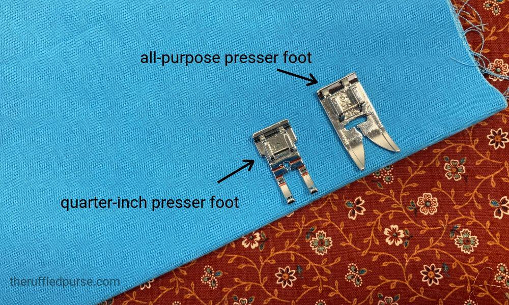 two different presser feet