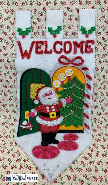vintage Christmas banner