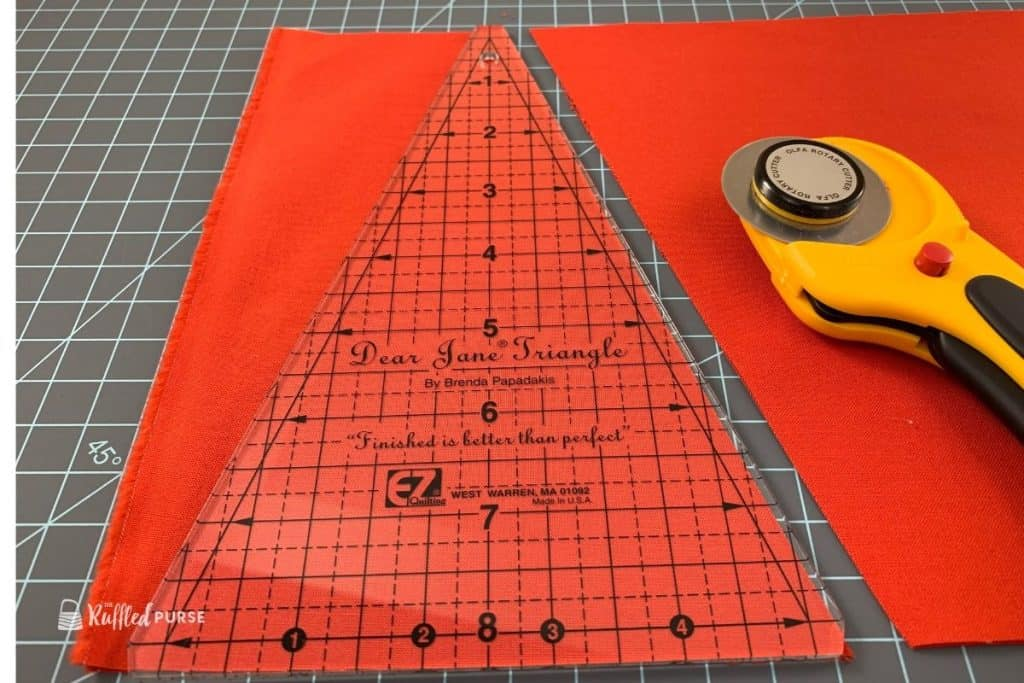 Cut one side of the triangle.