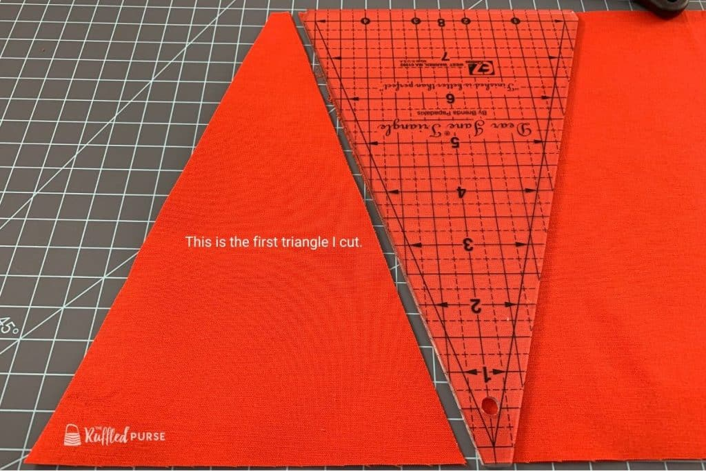 Invert template to cut another triangle