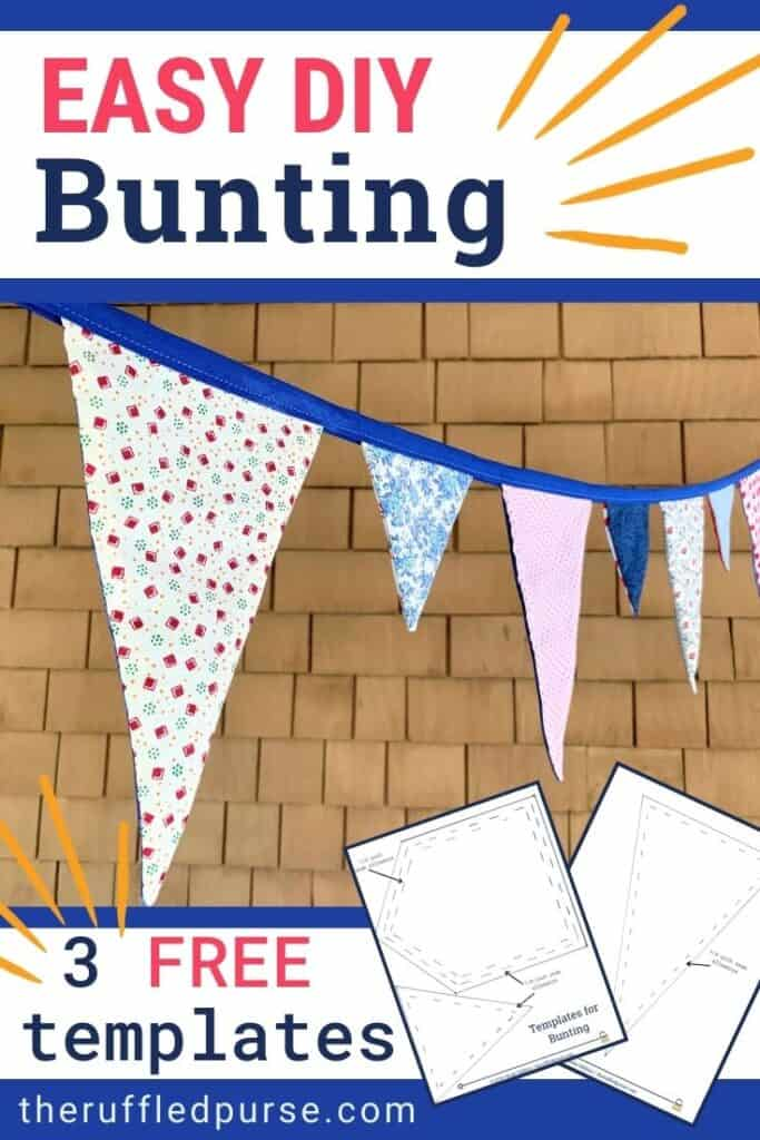 Bunting flags close up