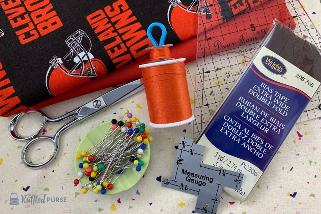 Supplies to make a pennant banner