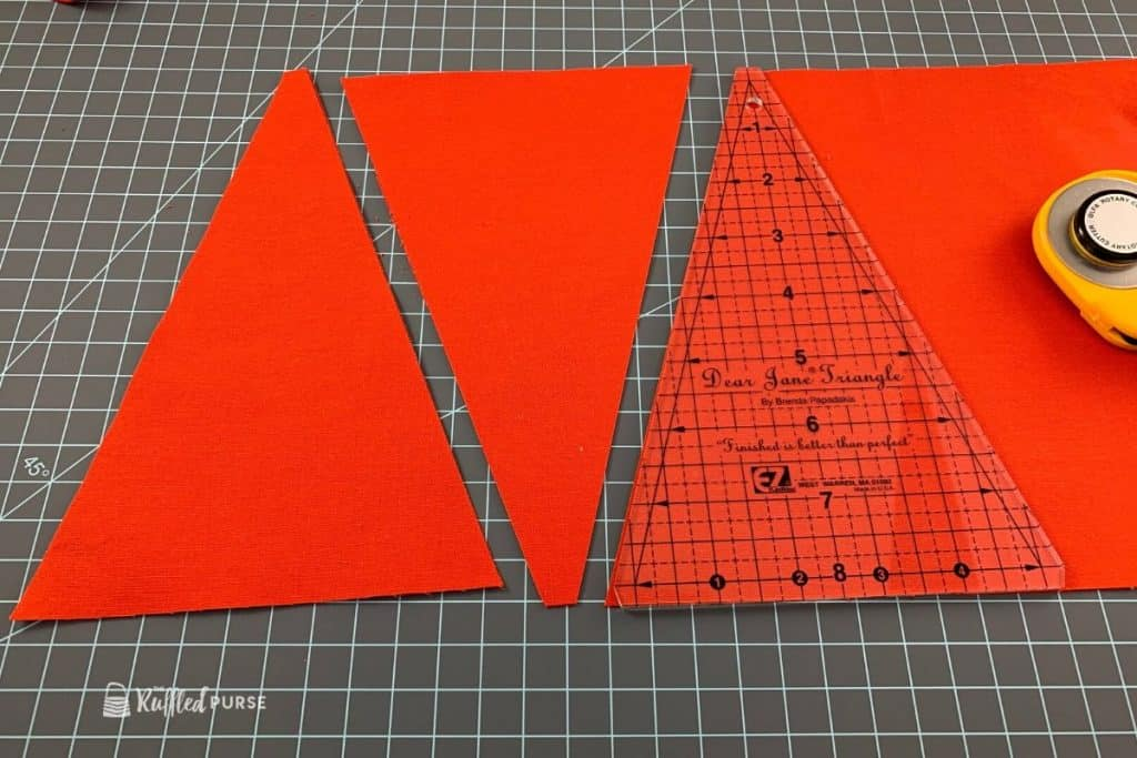 Cut triangles with template