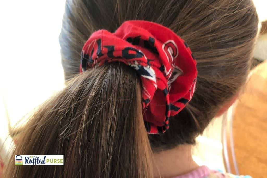 Scrunchies are an easy to sew handmade gift.