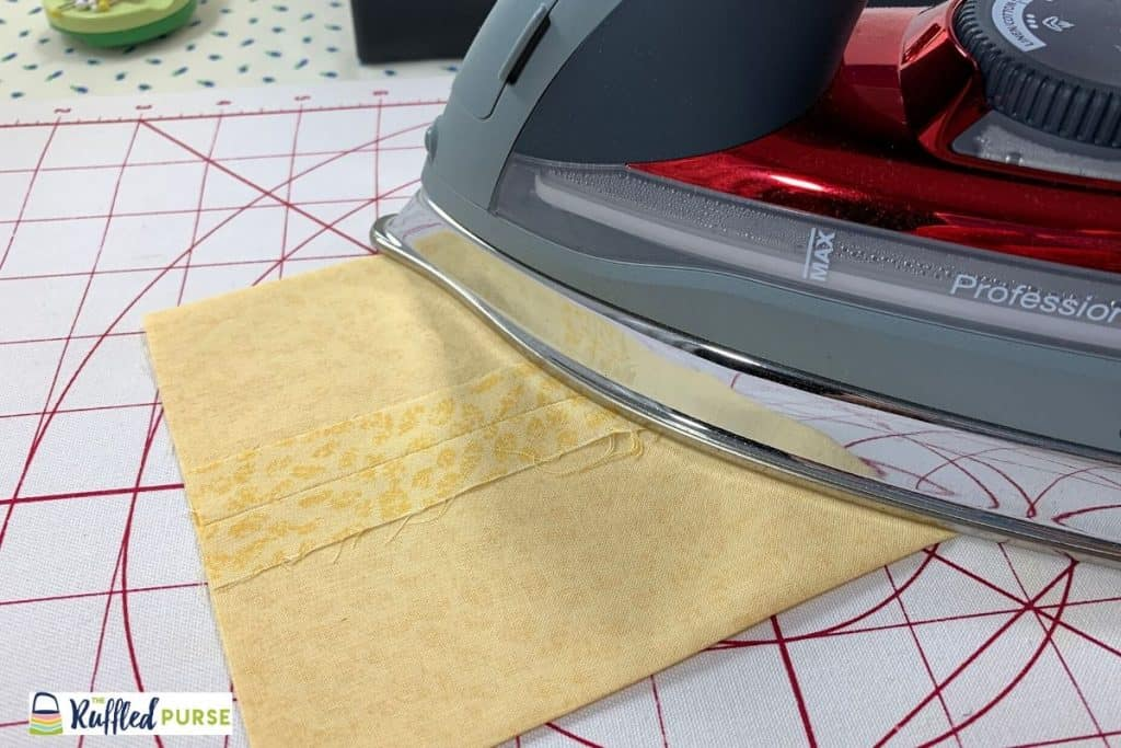 Press the seam and the sides flat.