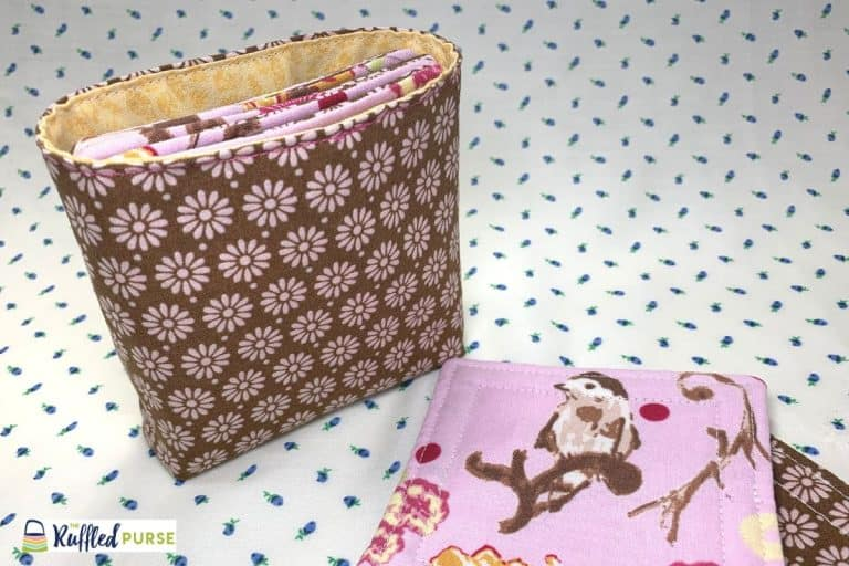 How to Sew a Storage Bag for Fabric Drink Coasters