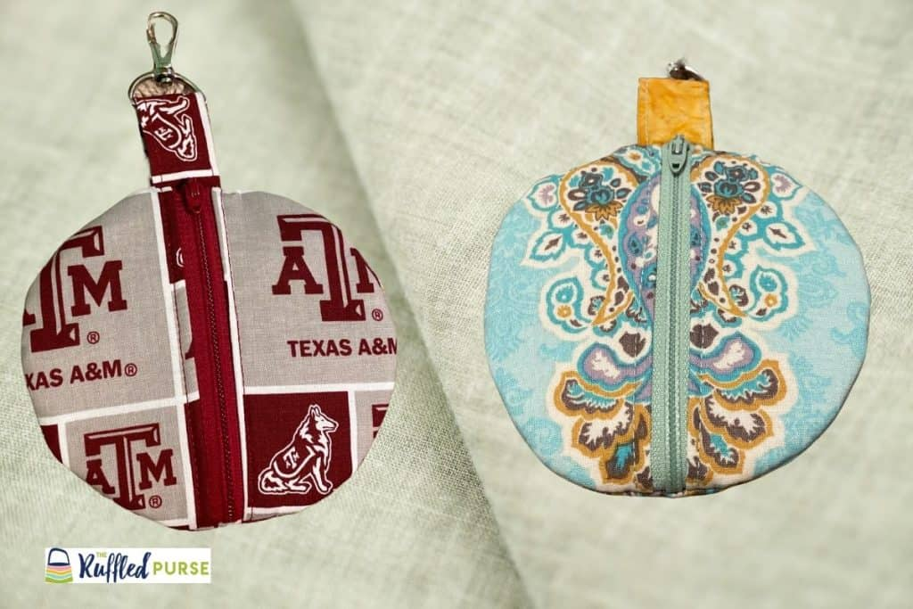 Zip ornaments are an easy to sew handmade gift.