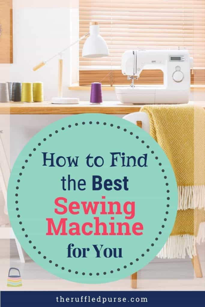 Finding the best sewing machine Pinterest image