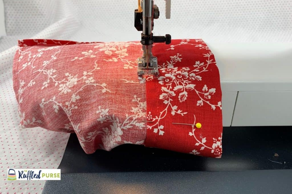 Use the free arm of your machine to make it easier to sew the casing down.