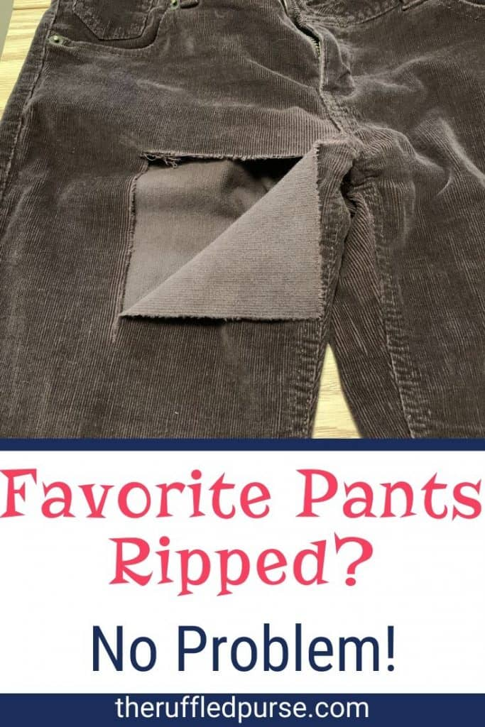 How To Fix A Rip In Pants The Ruffled Purse