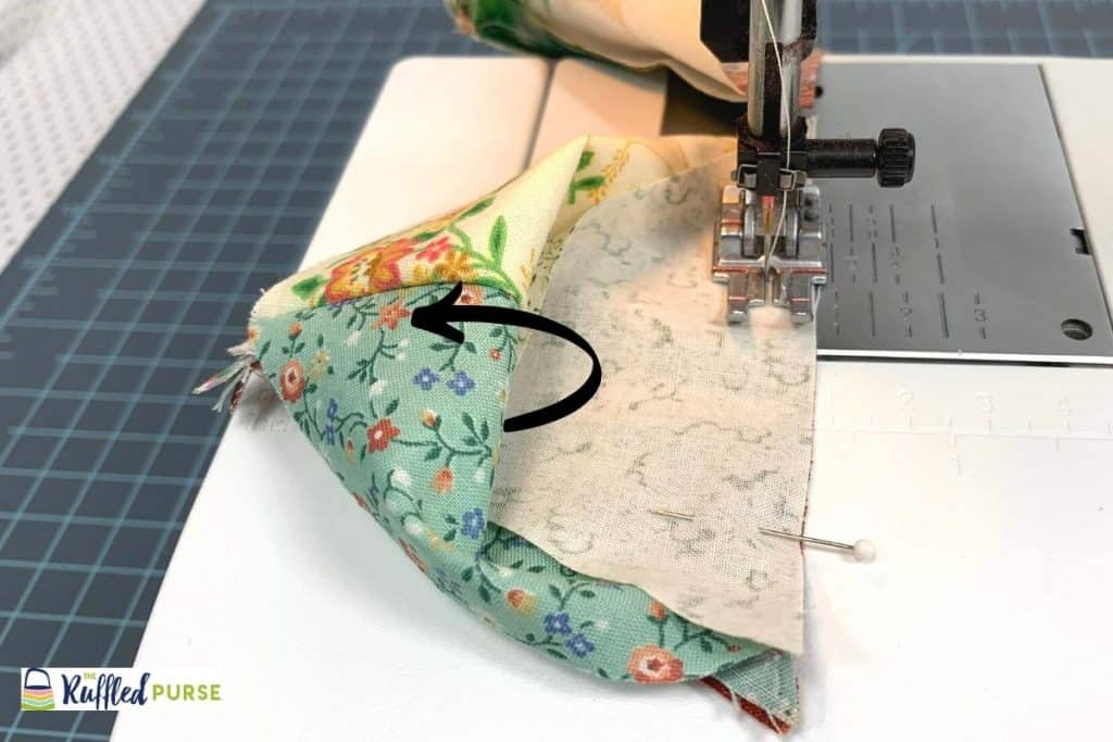 "Sew along that one side with 1/4"" seam allowance."