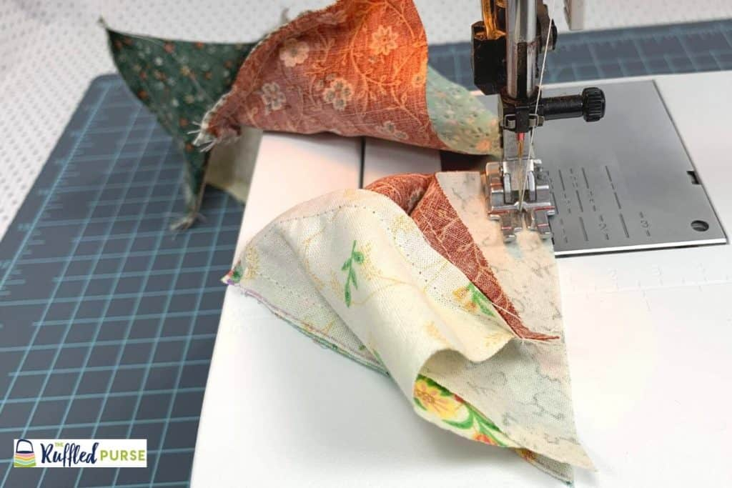 Sew another side of triangle D