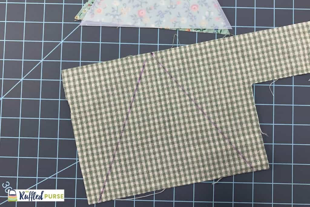 Trace templates on smaller or odd-shaped scraps.