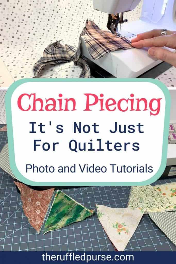Pinterest image for chain sewing