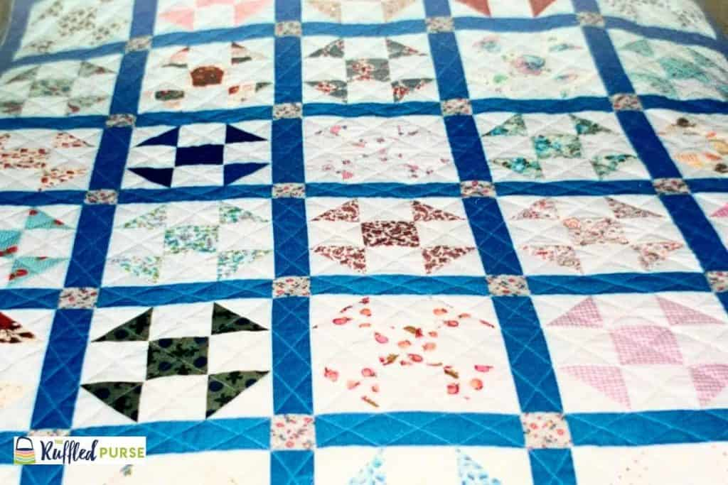 A fourth quilt made from my grandma's aprons.