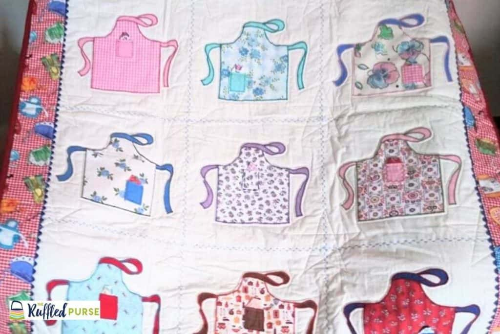 A quilt wall hanging.