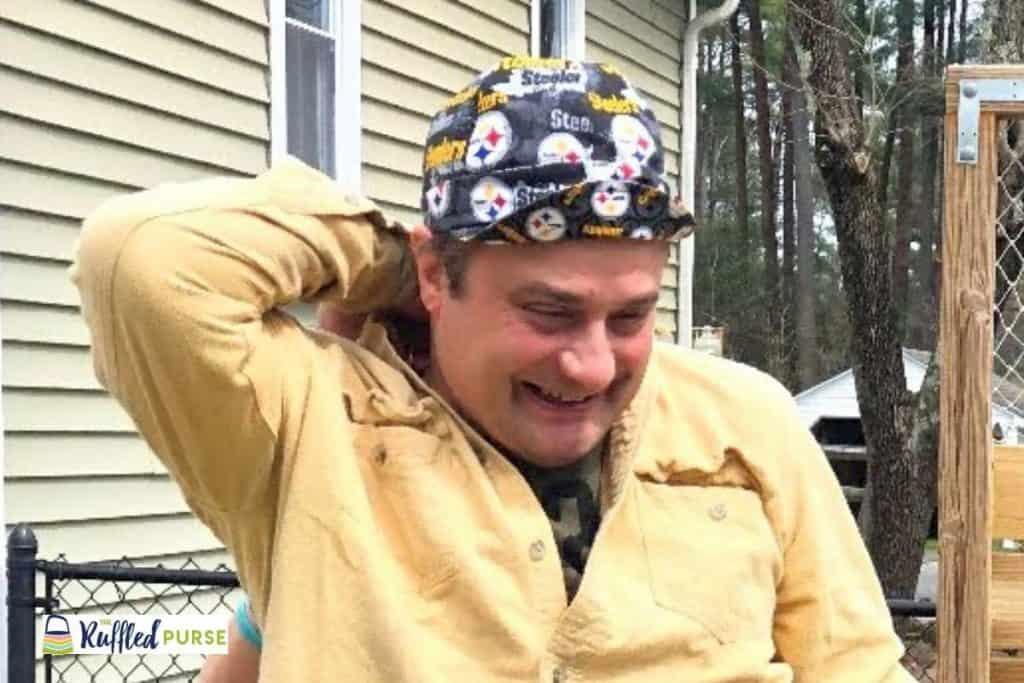 sports themed welder's cap