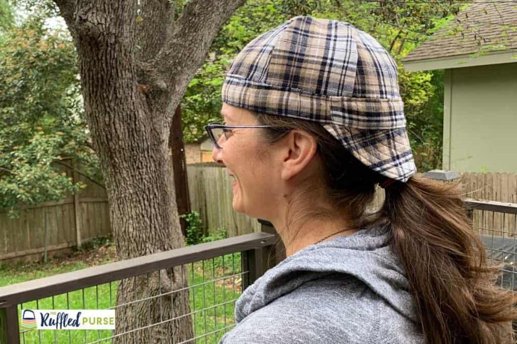 Welder's cap made from flannel