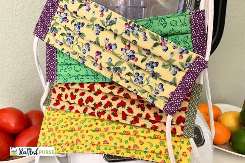 Face masks from fruit fabric