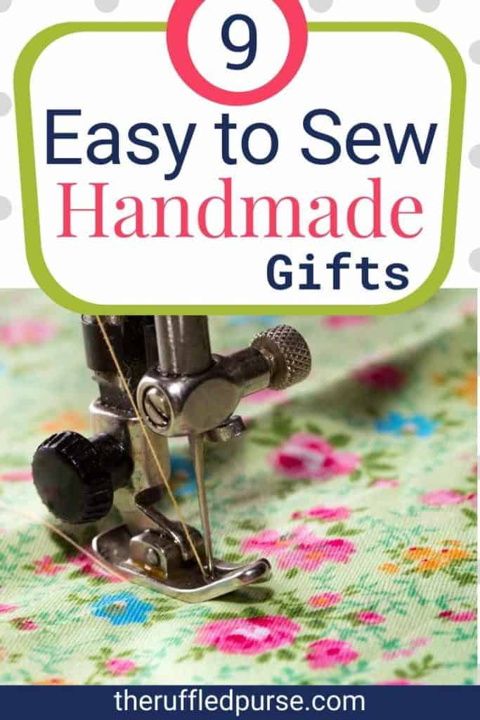 easy to sew handmade gift Pinterest image