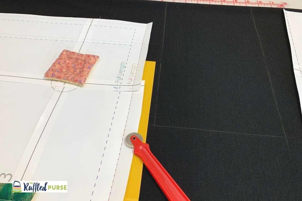 Trace the pattern on fabric with tracing paper and wheel