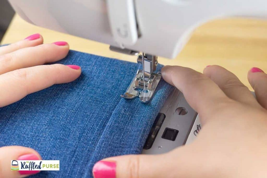 try out the sewing machine