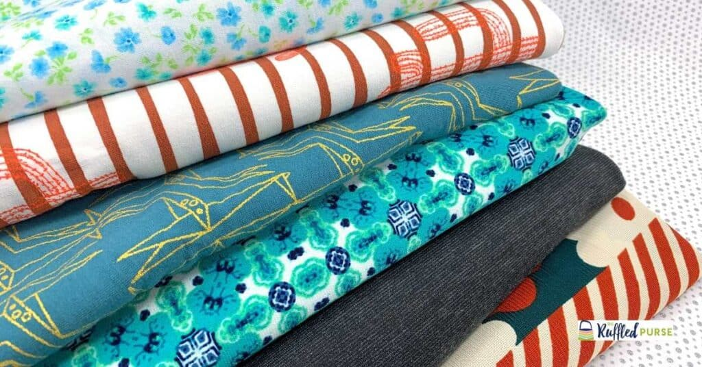 stack of knit fabric