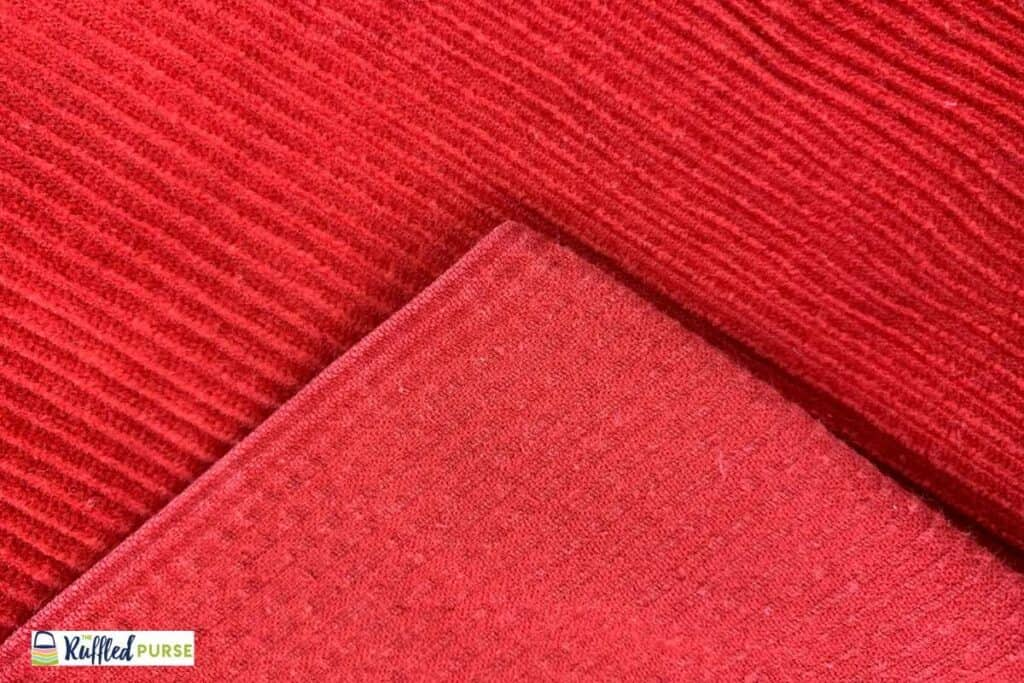 red corduroy