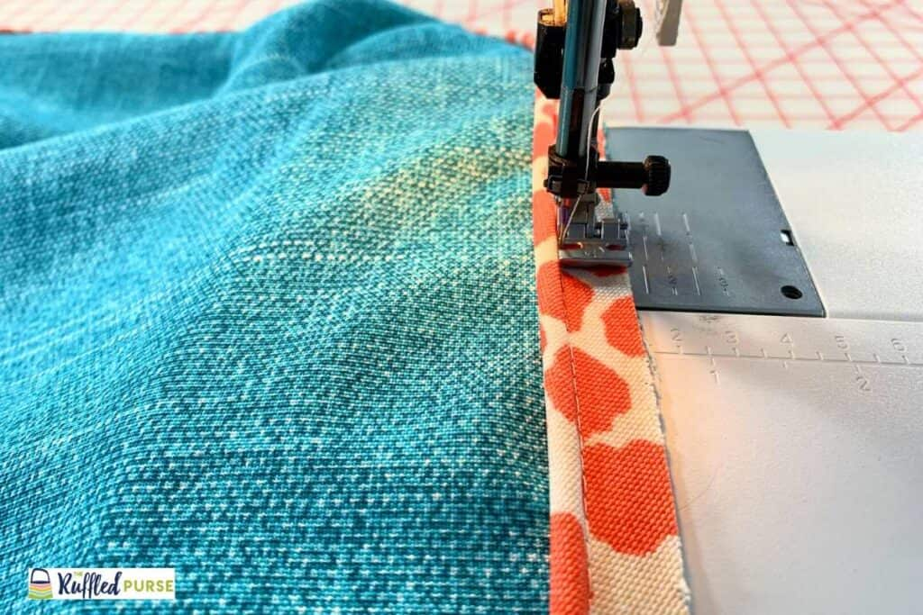 Sew welting down with zipper foot