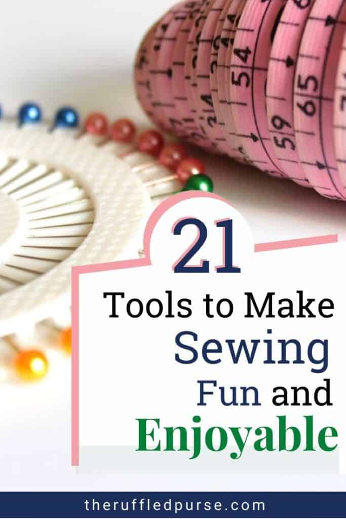 Pinterest image for essential sewing tools